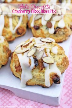White Chocolate Cranberry Bliss Biscuits #recipe