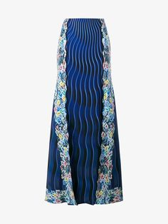 MARY KATRANTZOU RAINBOW CLOUD PRINTED PANELLED SKIRT. #marykatrantzou #cloth #