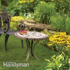 Build an Outdoor Table With Tile Top and Steel Base