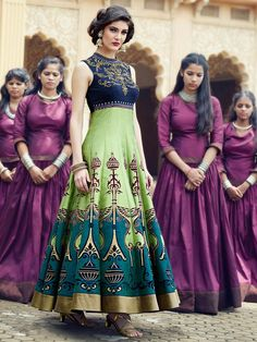Wedding Wear Anarkali Type Gown....  Any More Query Please Contact. +91 95375 10757.