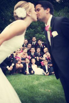 kiss - Cute idea for wedding photos