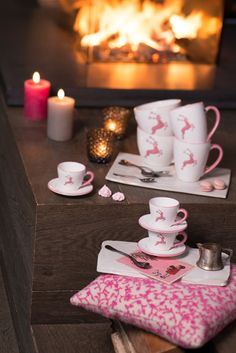 #pink #trend #deer #rosa #girly #christmas #coffee #espresso #cup #present
