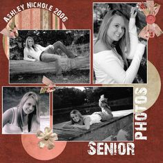This is my oldest daughter who graduated in 2006 from high school. I did this layout for a challenge as a multi-photo layout challenge. Senior Scrapbook Ideas, School Scrapbook Layouts, Graduation Scrapbook, Christmas Scrapbook Layouts, Wedding Scrapbook, Scrapbooking Layouts, Vacation Scrapbook, Graduation Cards, Graduation Ideas