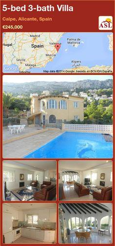 5-bed 3-bath Villa in Calpe, Alicante, Spain ►€245,000 #PropertyForSaleInSpain