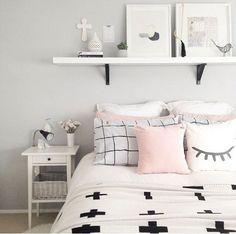 Decor simple chic Idéias para quarto Decoração Insipiração Room Tumblr #decorate #decoracao