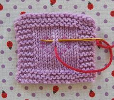 This is how you duplicate stitch. Good to know!.