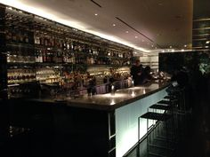 Inspiration for Shea's bar, the Amber Lounge (it's really the bar at MoMA in NYC).