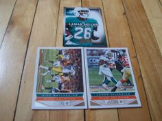 #LAMARMILLER #MIKEWALLACE #2013 #Panini Score Absolute #MiamiDolphins (3) Card Lot #NFLFootball #collecting