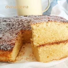 La bica gallega es un bizcocho tradicional esponjoso y jugoso que se prepara con los ingredientes naturales de siempre y añadiendo nata.