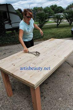 Prime How To Build A Farmhouse Table Diy Diy Farmhouse Beutiful Home Inspiration Ommitmahrainfo