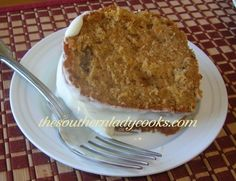 SWEET POTATO CAKE from the Southern Lady Cooks