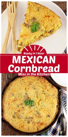 Mexican Cornbread is a hearty and delicious meal to make for any night of the week. Jalpeno cornbread is stuffed with crispy ground beef, onions and cheese and baked to perfection. My grandma's recipe that everyone loves. Quick Bread Recipes, Easy Dinner Recipes, Easy Bread, Muffin Recipes, Yummy Recipes, Dinner Ideas, Mexican Cornbread, Cornbread Recipes, Traditional Bread Recipe