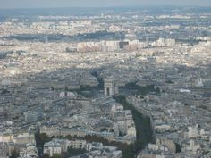 Arc de Triomphe from the Eiffel Tower
