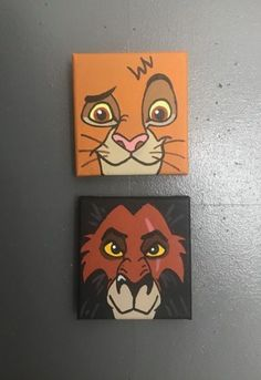 Lion Canvas Painting Ideas - Art of Lions lionpainting lionposter lionart li .Lion Canvas Painting Ideas - Art of Lions lionpainting lionposter lionart lioncanvas Simba and Nala The Lion King Disney Couples Sunset Acrylic Pa Disney Canvas Paintings, Disney Canvas Art, Small Canvas Art, Love Canvas, Mini Canvas Art, Cute Paintings, Acrylic Painting Canvas, Canvas Board, Toile Disney