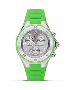 Michele Neon Green Tahitian Jellybean Watch!