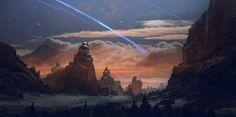 The Brightest Night , Geoffrey Ernault on ArtStation at https://www.artstation.com/artwork/L3a3w