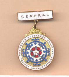Nurse's badge from The Queen Elizabeth Hospital, Woodville, South Australia