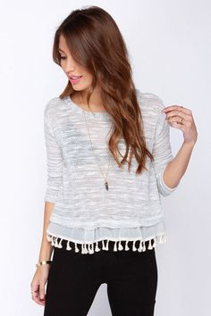 Misty Mountains Ivory Sweater Top