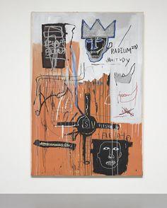 Jean-Michel Basquiat | Radium 23 1982-1983 acrylic and oilstick on canvas 94 ½ x 62 in. (240 x 157.5 cm)