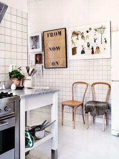 Kitchen via the My Scandinavia Home blog. Photo by Jonas Ingerstedt.