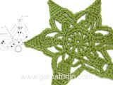 """Wishing Stars - DROPS Christmas: Crochet DROPS star with lace pattern in """"Cotton Light"""". - Free pattern by DROPS Design"""
