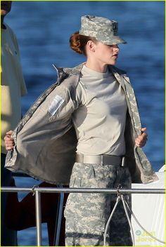 Kristen Stewart: Camo for 'Camp X-Ray 7-17-13