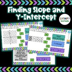 Finding Slope and Y-Intercept News Blog, Teaching, Education, Cards, Maps, Learning, Studying