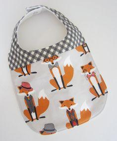 #Fox Baby Bibs - #WhatdoestheFoxSay Baby Bib / Teething Bibs / #Etsy Baby Bibs