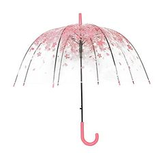 The shape of the umbrella is like a mushroom, so it gives you more coverage. The clear romantic floral print umbrella is the symbol of cute and fashion. This bubble umbrella is easy to open and close, and protect yourself from rain and gusting wind. Dome Umbrella, Bubble Umbrella, Clear Umbrella, Ladies Umbrella, Umbrella Girl, Under My Umbrella, See Through Umbrella, Fancy Umbrella, Cute Umbrellas
