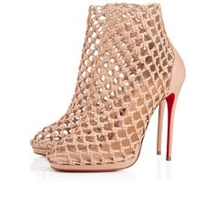 Get the must-have pumps of this season! These Christian Louboutin Nude Porligat 120 Beige Caged Cage Stiletto Boot Bootie Sandal Heel Pumps Size EU (Approx. US Regular (M, B) are a top 10 member favorite on Tradesy. Louboutin Online, Knit Boots, Bootie Sandals, Red Bottoms, Christian Louboutin Shoes, Manolo Blahnik, Pumps Heels, Nude Pumps, Ebay