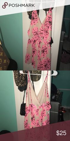 flower romper/dress adjustable straps worn twice, great condition Dresses Mini