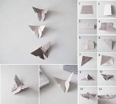 Learn How To Fold Butterflies Out Of Paper ~ GOODIY