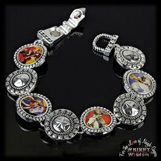 Vintage Style, Western Cowgirl themed Link Bracelet w/ Magnetic Closure. Only $8,95 + Shipping, sent gift boxed!  #Magnetic #Cowgirl #CowgirlFashion