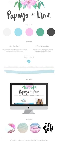 Branding and Blog Design for Papaya + Lime - The Nectar Collective