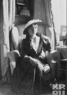 Grand Duchess Olga in the Mauve Room at the Alexander Palace