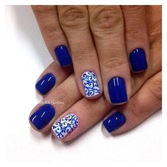50 Blue Nail Art Designs ❤ liked on Polyvore featuring beauty products, nail care, nail treatments, nails, beauty and nail images