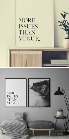 More Issues Than Vogue Wall Art Poster | Typotography Poster | Typotography Wall Art | Wall Art Decor | Printable Wall Art | Wall Art Prints | DIY Wall Decor |