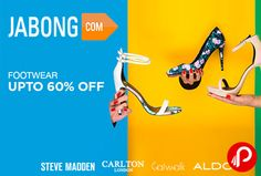 Jabong offers UPTO 60% off on Footwear. Steve Madden, Carlton London, Catwalk, Aldo on Heels, Flats, Sandals, Belly Shoes, Wedges, Boots, Stilettos, Loafers, Sneakers, Peeptoes, Sports Shoes, Flip Flops, Floaters.  http://www.paisebachaoindia.com/footwear-upto-60-off-jabong/