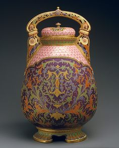 1884-1890 Ott and Brewer Covered potpourri vase at the Metropolitan Museum of Art, New York
