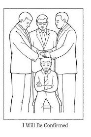 { Mormon Share } Baptism Confirmation Coloring Page