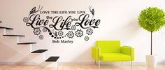 Live Life Love (1582) / Samolepky na zeď, stěnu a nábytek Live Life Love, Wall Design, Handmade, Home Decor, Hand Made, Decoration Home, Room Decor, Craft, Handarbeit