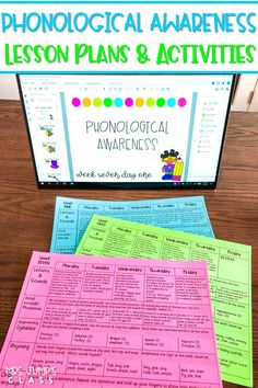 Phonological Awareness lesson plans and digital activities for kindergarten and first grade. Just 10 minutes of daily instruction to create confident readers and writers!