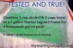 DIY Homemade Gel Ice Pack
