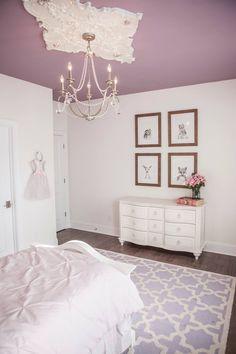 girls bedrooms princess room ceiling medallion purple painted ceiling pink and purple room Purple Princess Room, Girls Princess Bedroom, Girls Bedroom, Bedroom Ideas, Toddler Princess Room, Princess Room Decor, Purple Ceiling, Girls Room Paint, Purple Bedrooms