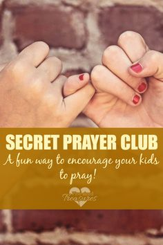 "Find out why this ""secret club"" is one of the best things you can do for your kids! Encourage them to spend time with God while they are young! #inspiration #parenting #prayer #Christianmoms #motherhood www.pintsizedtreasures.com"