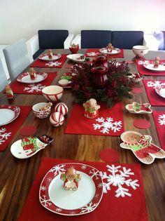 Mi mesa de Navidad Christmas Dining Table, Christmas Napkins, Christmas Dishes, Christmas Table Settings, Christmas Tablescapes, Christmas World, Christmas Home, Christmas Holidays, Christmas Crafts