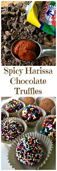 Spicy Harissa Chocolate Truffles, dark chocolate and Harissa paste are a smooth, spicy combination you'll enjoy even if you don't like a lot of heat. #sponsored #cookoutweek  via @LttlHouseBigAK