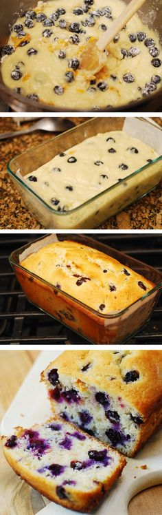 Lemon blueberry bread made with freshly squeezed lemon juice, lemon zest and baked to perfection!