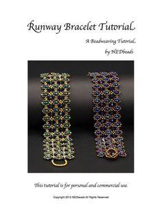 Runway Bracelet Tutorial por NEDbeads en Etsy