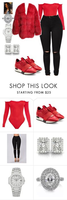 """Driving To The Airport. Picking Up Hubby,His Brother's"" by queensamsam ❤ liked on Polyvore featuring Balenciaga, Allurez, Patek Philippe, Mark Broumand and Gucci"